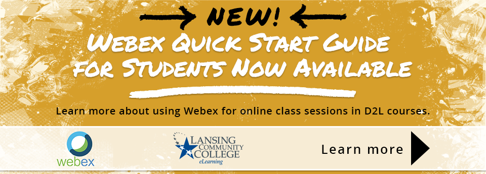Learn more about the Webex Quick Start Guide for students.