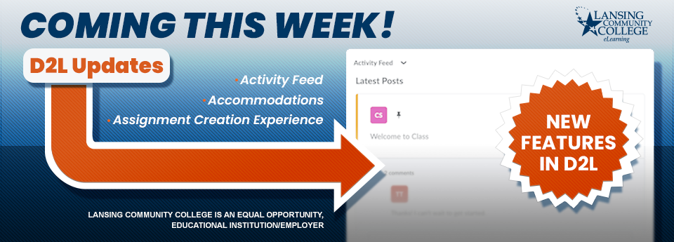 New updates to D2L coming this week!