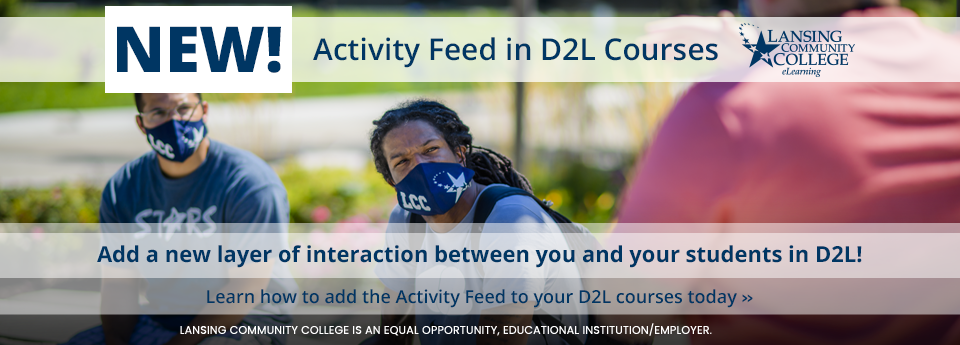 Learn more about the new Activity Feed feature in your D2L courses.
