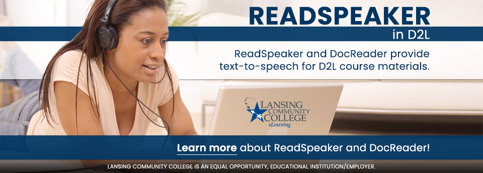 Learn more about ReadSpeaker in D2L.