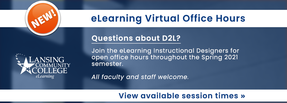 All NEW eLearning Virtual Office Hours!