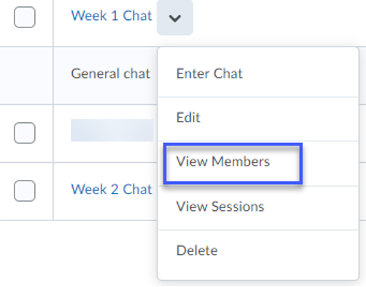View Members highlighted.
