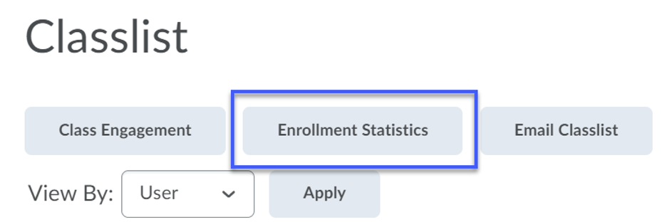 Select the Enrollment Statistics button.
