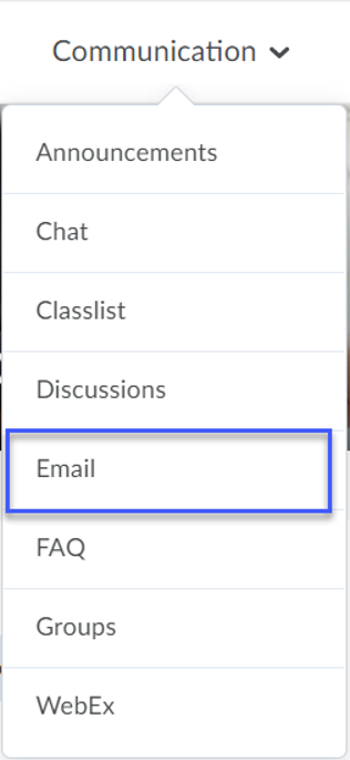 Email selected from a Desktop or Mobile Device.