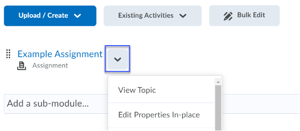 Select the drop-down menu for the Content Topic.