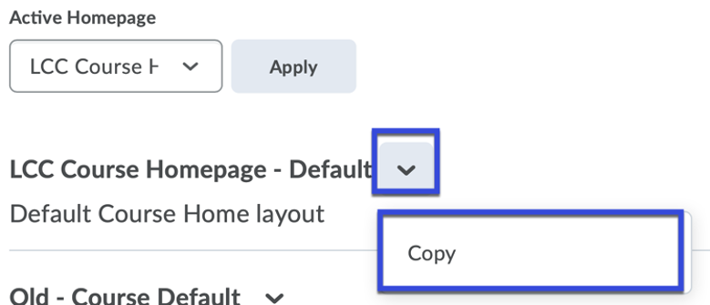 From the drop-down menu, select Copy.