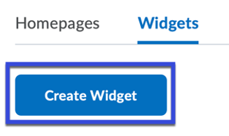 Select Create Widget.