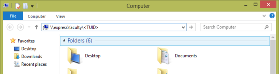 Connecting to the server on Windows.