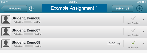 Select the appropriate student.