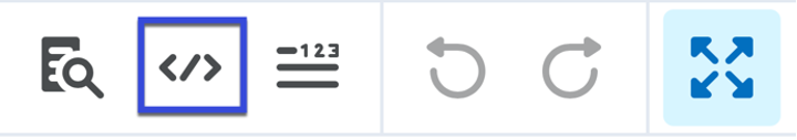 Select the HTML Source Editor icon.