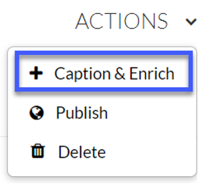 Select Order Captions from the dropdown menu.