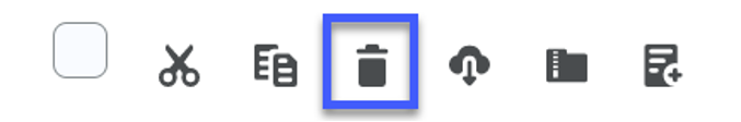 From the File Action toolbar, select the Delete Icon.