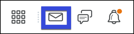 Email icon displayed on the Mini Bar in D2L