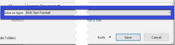 Save File Type field.