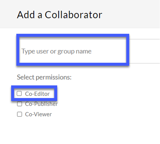 Enter the username of each user and the level of access they should be granted.