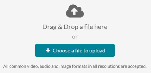 Choose a file to upload.