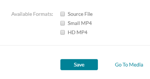 Select the download format(s), including Source File, Small MP4, and/or HD MP4.