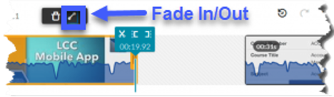 Use the fade in and out feature to create a smooth transition.
