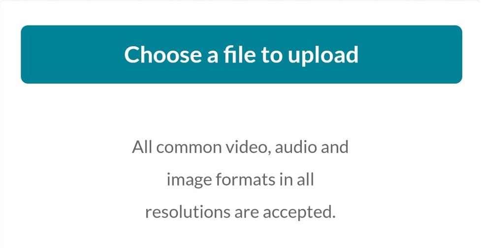 Select Choose a File to upload.