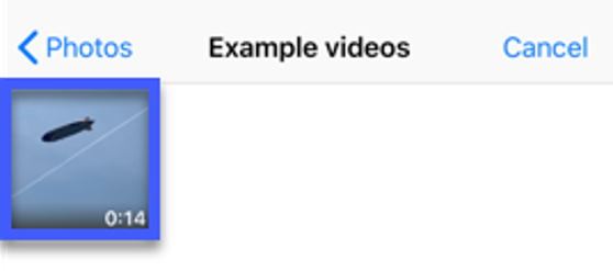 Select the video that you wish to upload.