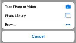 Select photo library from the menu.