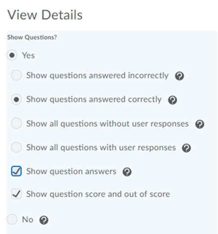 Screenshot of the Submission View Preferences pane.