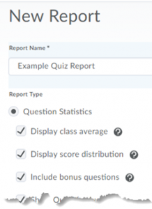 Screenshot showing New Report options.