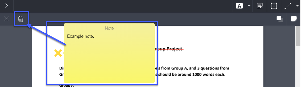 Removing an annotation in my example.
