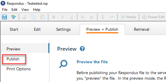 Select Publish to proceed to adding the quiz to your D2L course.