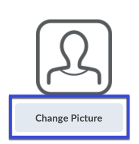 User profile screenshot with Change Picture button highlighted.