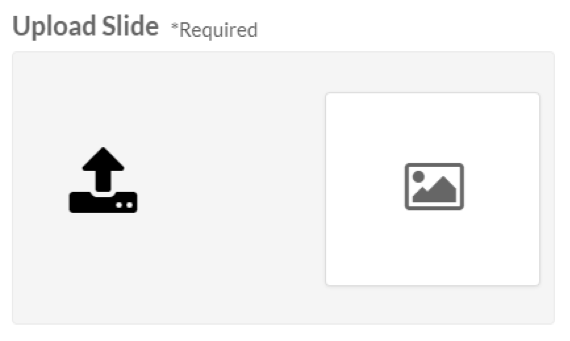 Upload a new slide or replace an existing slide.