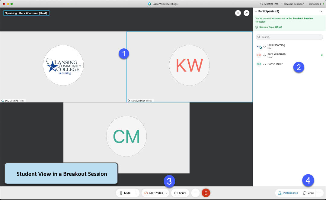 Webex Breakout session from a students perspective