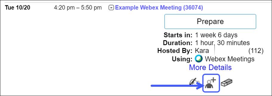 Select the Invite Guest icon.