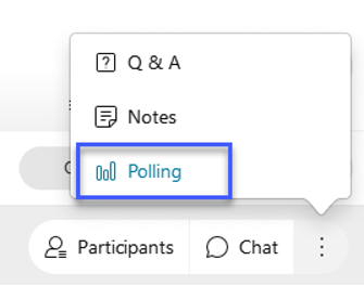 Select the More Options button and then select Polling.