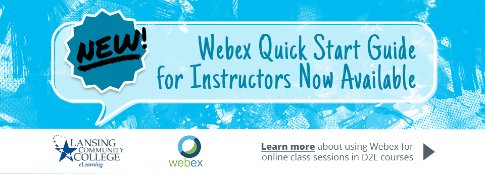 Learn more about the Webex Quick Start Guide for Instructors.